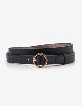 Black Skinny Waist Belt