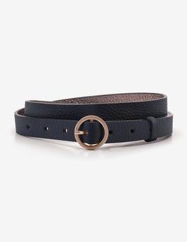 Navy Skinny Waist Belt