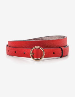 Post Box Red Skinny Waist Belt