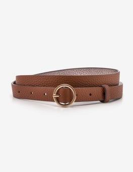 Tan Skinny Waist Belt