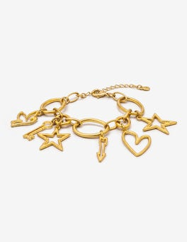 Antique Gold Metallic Charming Bracelet