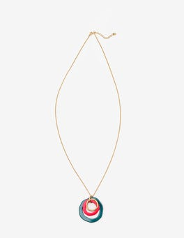 Drake and Pop Peony Colourpop Longline Pendant