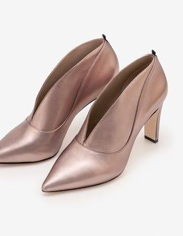 Zinn-Metallic Roseberry Stiefel mit Absatz
