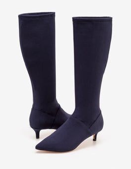 Kitten Heel Stretch Boots