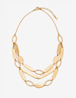 Antique Gold Metallic Shapely Necklace