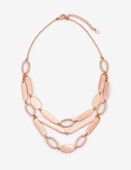 Antique Rose Gold Metallic Shapely Necklace