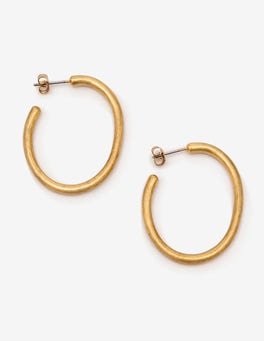 Antique Gold Metallic The Hoop Earrings