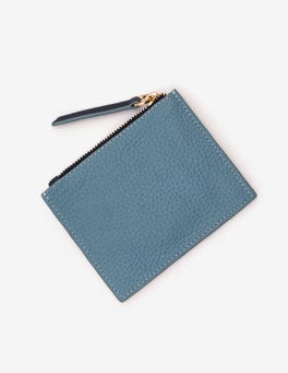 Heritage Blue and Rose Gold Leather Coin Purse