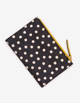 Black & White Spot Leather Keepsake Pouch