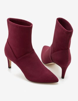 Mulled Wine Ankle Stretch Boots