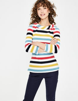 Multi Stripe Sarah Ponte Top