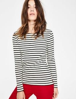 Ivory/Black Long Sleeve Breton