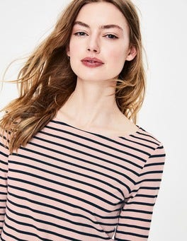 Milkshake/Navy Long Sleeve Breton