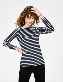 Navy Multi Stripe Long Sleeve Breton