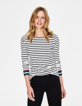 Ivory Multi Stripe Long Sleeve Breton