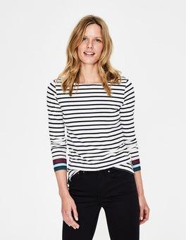 1ebb9ff0dfefeb Ivory Multi Stripe Long Sleeve Breton