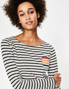 Rainbow Multi Stripe Long Sleeve Breton