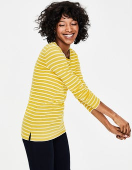 English Mustard/Ivory Long Sleeve Breton