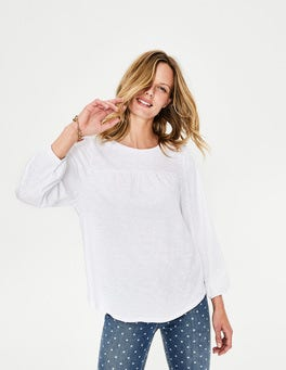 White Freya Jersey Top