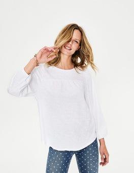 White Freya Jersey Top