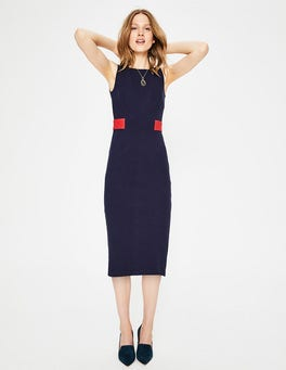 Navy Primrose Ottoman Dress