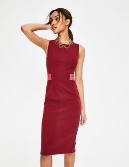 Wine Primrose Ottoman Dress