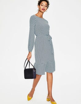 Heritage Blue Trellis Holly Jersey Dress