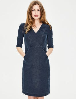 Dark Denim Bronte Jersey Dress