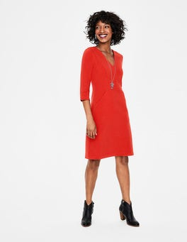 Post Box Red Bronte Jersey Dress