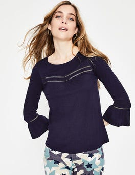 Navy Gracie Jersey Top