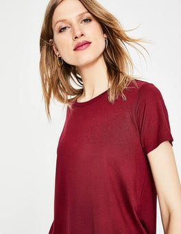 Wine Supersoft Easy Tee