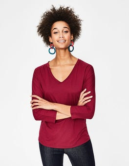 Wine Supersoft Relaxed Voop Tee