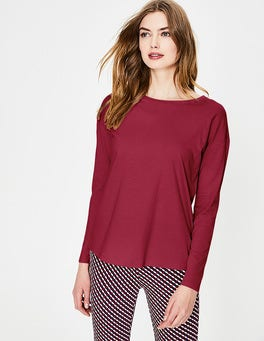 Wine Supersoft Dropped Shoulder Tee