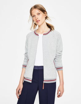 Grey Marl Whitstable Jersey Jacket