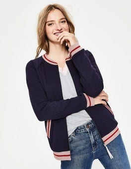 Navy Whitstable Jersey Jacket