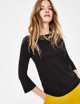 Black Althea Jersey Top