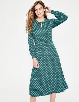 Seaweed Bud Eliza Jersey Midi Dress