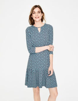 Heritage Blue Daisy Duo Selena Jersey Dress