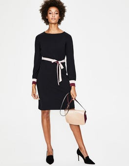 Black Fawn Jersey Dress
