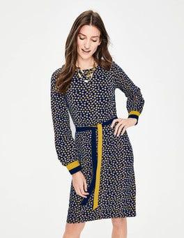 Navy Stars Fawn Jersey Dress