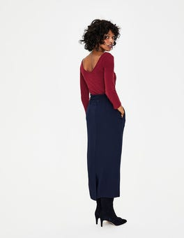 Mulled Wine Double Layer V Back Top