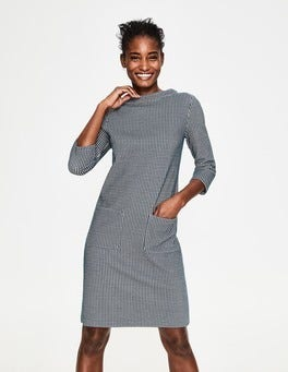 Meeresgrün/Milchshake Opal Jacquard-Kleid