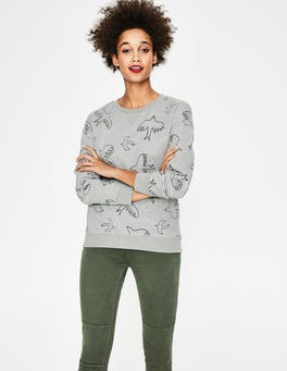 Grey Marl Flying Birds Arabella Sweatshirt