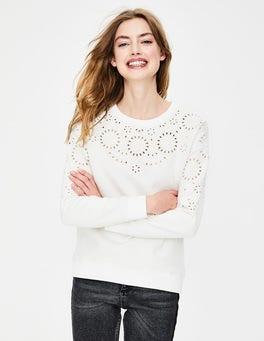 Ivory Broderie Arabella Sweatshirt