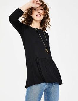 Schwarz Katrina Jersey-Shirt