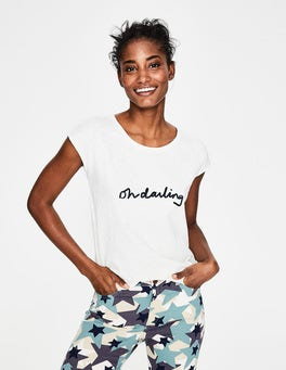 Ivory Oh Darling Robyn Jersey Tee