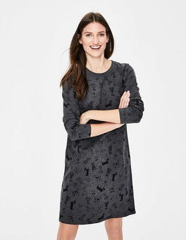 Charcoal Doodle Dog Sweatshirt Dress