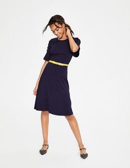 Navy Alexis Jersey-Kleid