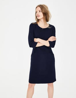 Navy Jasmine Ottoman Dress