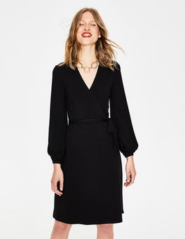 Black Elodie Jersey Wrap Dress